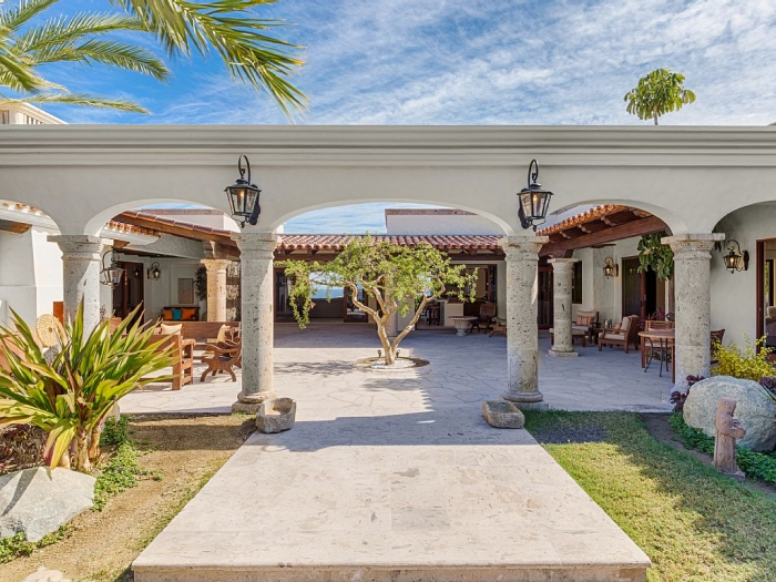News luxury hacienda style homes for sale in los cabos for Adobe style homes for sale